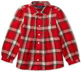 Ralph Lauren Plaid Long-Sleeve Shirt, Toddler & Little Girls (2T-6X)