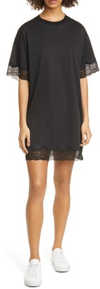 ATM Anthony Thomas Melillo Lace Trim T-Shirt Minidress