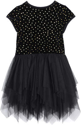 Pastourelle Velvet & Glitter Dress