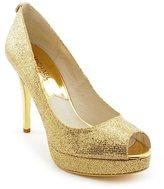 MICHAEL Michael Kors York Platform Women US 11 Gold Platform Heel