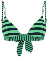 Stella McCartney calypso stripe scooped triangle bikini top