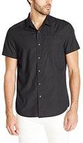 Kenneth Cole New York Men's Short Sleeve Ripstop Shirt - Medium