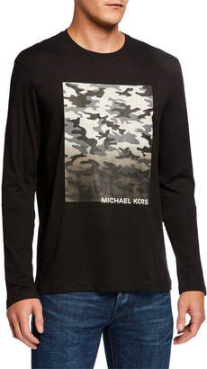 Michael Kors Men's Camo Graphic Long-Sleeve T-Shirt