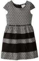 Us Angels Aztec Double Knit Cap Sleeve w/ Belt & Fabric Block Skirt (Big Kids)