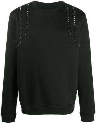 Les Hommes Studded Shoulder Sweatshirt
