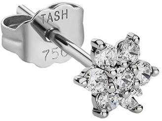 Maria Tash 18kt White Gold Diamond Flower Stud Earring