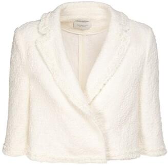 Giambattista Valli Cropped Solid Boucle Jacket