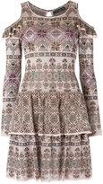 Cecilia Prado knit ruffled dress - women - Viscose - P