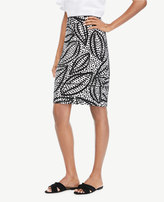 Ann Taylor Home Skirts Curvy Cheetah Leaf Piped Pencil Skirt Curvy Cheetah Leaf Piped Pencil Skirt