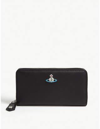 Vivienne Westwood Orb logo leather continental wallet