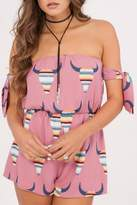 Peach Love California Aztec Bullhead Romper