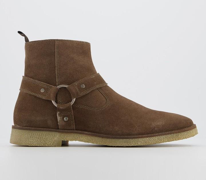 Walk London Hornchurch Stirrup Boots Natural