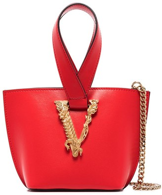 Versace mini Virtus top-handle bucket bag
