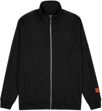 Heron Preston Black logo cotton track jacket