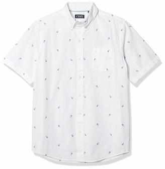Chaps Men's Regular-Fit Short Sleeve Wrinkle Resistant Sportshirt (Spring/Summer)