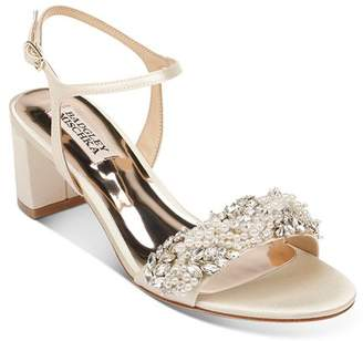 Badgley Mischka Women's Clair Embellished Block Heel Sandals
