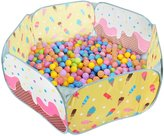 Sugar Q SPT004 Kids Ball Pool Playpen Tent Yellow Play Tent with 25 Plastic Balls