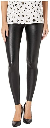 Commando Faux Leather Zip Leggings SLG14 (Black) Women's Casual Pants