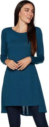Lisa Rinna Collection Long Sleeve Knit Tunic with Side Slits