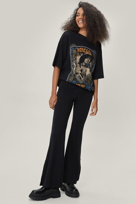 Nasty Gal Womens Faux Leather Heeled Western Ankle Boots - Black - 5, Black
