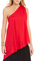 Trina Turk Nimah Sleeveless One-Shoulder Blouse