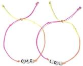 Venessa Arizaga OMG / LOL Bracelet Set