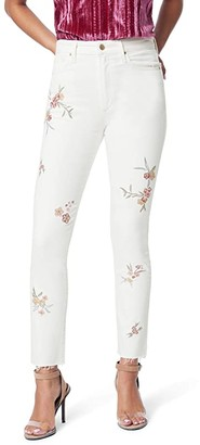 Joe's Jeans Luna Ankle Cut Hem Floral Embroidery in Honeysuckle (Honeysuckle) Women's Jeans