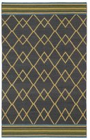 Tribeca Flatweave Ziggy Charcoal Wool Rug (9' x 12')