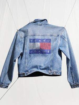 Tommy Hilfiger Bling Tommy Flag Denim Jacket