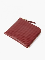 Comme Des Garcons Wallet Burgundy Luxury Leather Coin Wallet