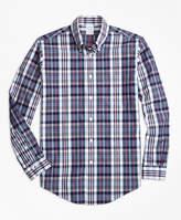 Brooks Brothers Regent Fit Slub Cotton Plaid Sport Shirt