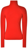 Prabal Gurung Rib-Knit Turtleneck in Red Red