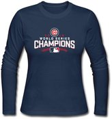 KcoIESisM Chicago Cubs 2016 World Series Champions Women's Long Sleeves T-shirts