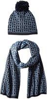 Tommy Hilfiger Women's Interlocking Logo Beanie and Scarf Gift Set