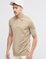 Weekday Street Knit Polo Beige