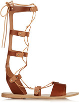 Ancient Greek Sandals Thebes Lace-up Leather Sandals - Tan