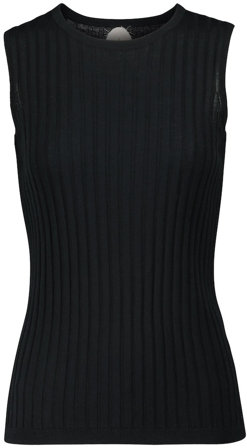 Jardin Des Orangers Ribbed-knit cotton and silk tank top