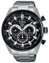 Pulsar Men's Stainless Chronograph Watch w/ Bla
