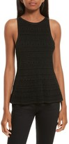 Theory Women's Textured Peplum Top