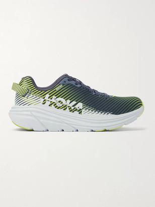 Hoka One One Rincon 2 Striped Mesh Running Sneakers