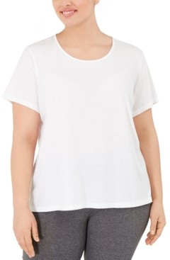 Ideology Plus Size Split-Back T-Shirt, Created for Macy's
