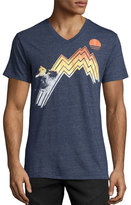 Sol Angeles Gradient Sunset V-Neck T-Shirt, Navy