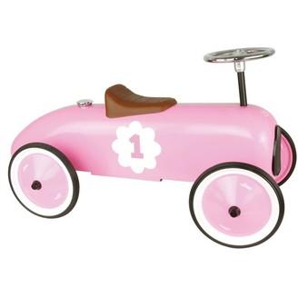 Vilac Vintage Ride-On Metal Car, Pink