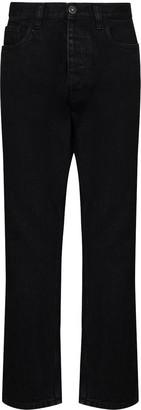Prada High-Waist Tapered-Leg Jeans