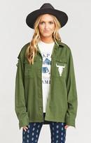 MUMU Army Jacket ~ Olive Bull
