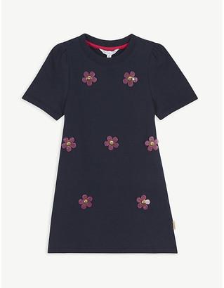 Little Marc Jacobs Daisy applique cotton dress 4-14 years