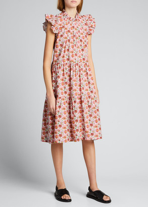 Sea Leslie Liberty Floral-Print Tunic Dress