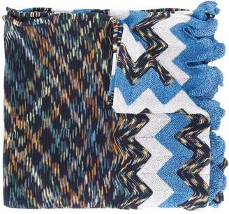M Missoni Chevron-Knit Scarf
