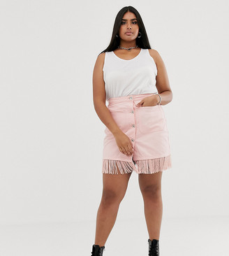 See You Never Plus fringed mini skirt