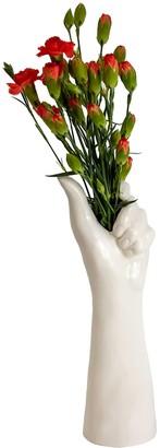 Belgin Bozsahin White Large Porcelain Handmade Vase